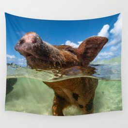 Paradise Pig Wall Tapestry