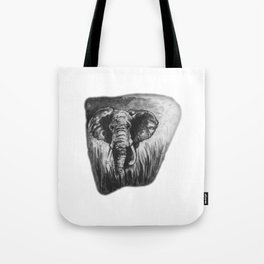 Elephant in tall grass by annmariescreations Tote Bag