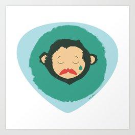 Sad Monkey-Bear Art Print