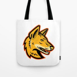 Arabian Wolf Head Mascot Tote Bag
