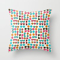 sunglasses Throw Pillows featuring Sunglasses by Valendji