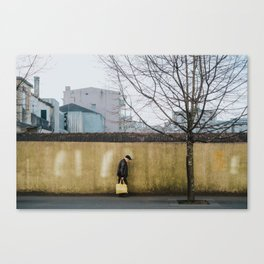 Yellow Stride Canvas Print