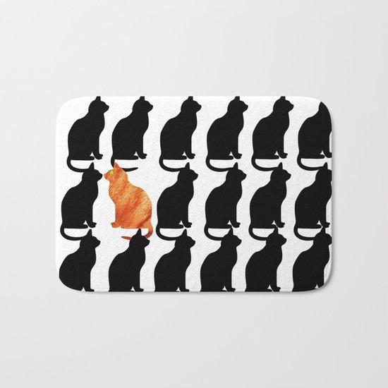 ODD CAT OUT Bath Mat