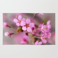 cherry blossom Area & Throw Rugs featuring Cherry Blossom by David Tinsley