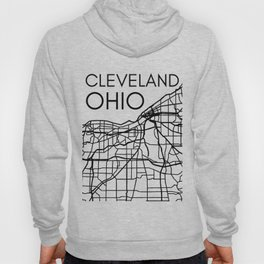 Cleveland City Street Map Ohio OH Home Town Pride Love Vintage Maps Hoody