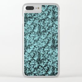 Vintage Floral Lace Leaf Island Paradise Clear iPhone Case