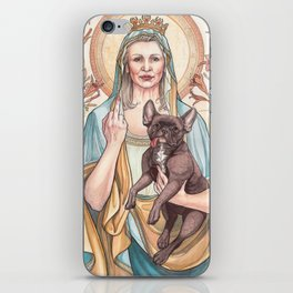 Our Blessed Rebel Queen, Carrie Fisher iPhone Skin