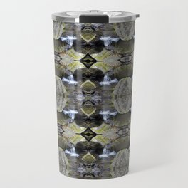 Peekamoose Waterfall Rocks Pattern Travel Mug