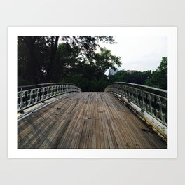 Old wooden bridge (Central Park) Art Print