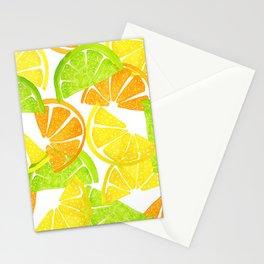 Citrus Slices - Lemon Lime Orange Stationery Cards