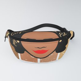 Black Podiatrist Strong Afro African American Women Fanny Pack