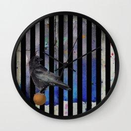 Crow Stripes Wall Clock