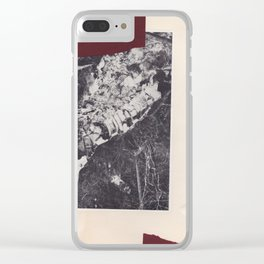 Collage vintage abstract chine-colle black and white photography Clear iPhone Case