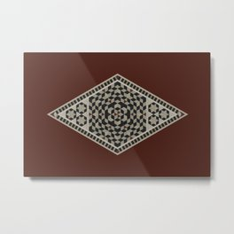 Damascus Diamond Metal Print