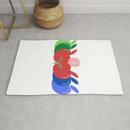 Apple and Flower Rug