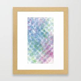 blue green red dots Framed Art Print