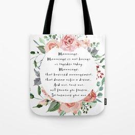 Princess Bride Marriage Tote Bag