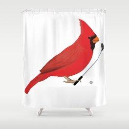Golf Cardinal Shower Curtain