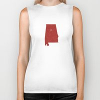 alabama Biker Tanks featuring Alabama by Hunter Ellenbarger