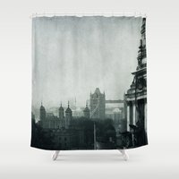 london Shower Curtains featuring London by Ingrid Beddoes
