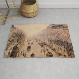 Camille Pissarro - Boulevard Montmartre Morning, Sunlight And Mist - Boulevard Montmartre Matin, Lum Rug