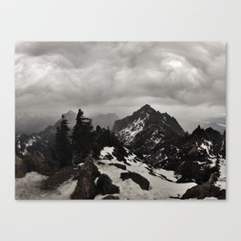 Stormy Day in the Olympic Mountains Canvas Print
