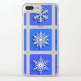 Snowflakes collection Clear iPhone Case
