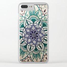 mandala1 Clear iPhone Case