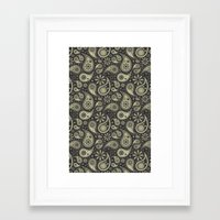 paisley Framed Art Prints featuring Paisley by Sixter
