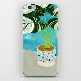 Variegated Monstera #tropical #painting #nature iPhone Skin