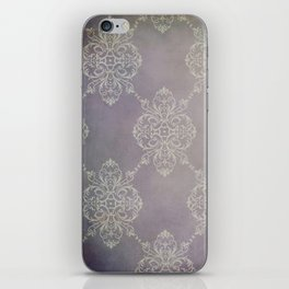 Vintage Damask - Violet iPhone Skin