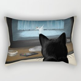 Watching TV Rectangular Pillow