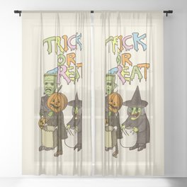 Happy Halloween! Sheer Curtain