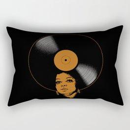 Afrovinyl (Brown) Rectangular Pillow