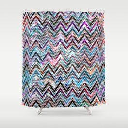 Galaxy Chevron Shower Curtain