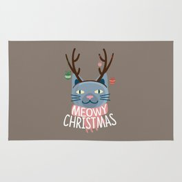 Meowy Christmas! Rug