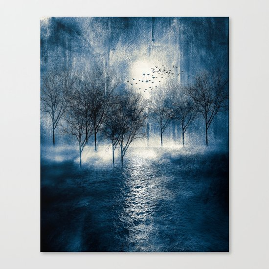 Paisaje y color (azul) Canvas Print