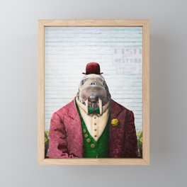 Portrait of Wendell Walrus Framed Mini Art Print