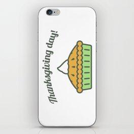 Happy Thanksgiving Day Pie Design iPhone Skin