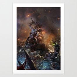 Centaur Battle Art Print