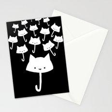 minima - cat rain Stationery Cards