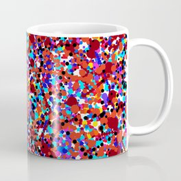 circles and squares in 10 colors + black Coffee Mug