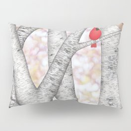 cardinals and birch trees Pillow Sham