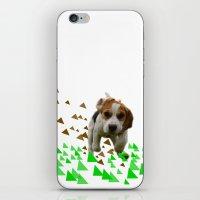 beagle iPhone & iPod Skins featuring Beagle by MinnaEleonoora