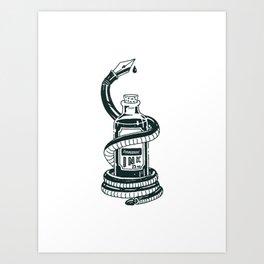 Blood of The Serpent Art Print