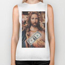 Jesus loves sex Biker Tank
