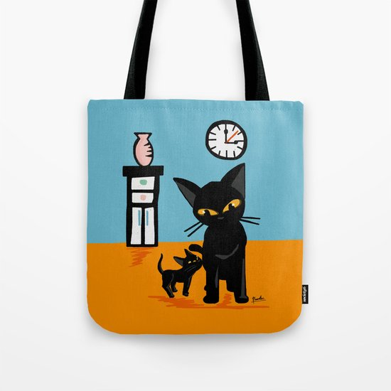 With a little boy Tote Bag
