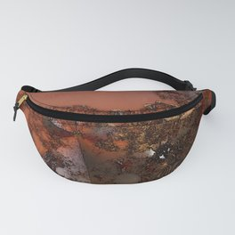 Study of textures and terra cotta Fanny Pack