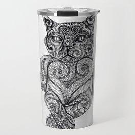 Zentangle Cat Travel Mug