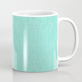 Mint Green Embroidered Look Coffee Mug
